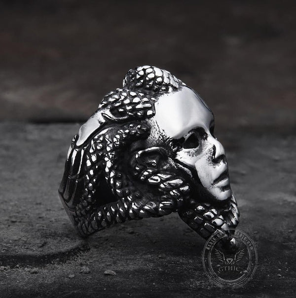 Venomous Medusa Stainless Steel Mythology Ring