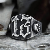 Vintage 13 Stainless Steel Skull Ring