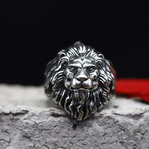 Vintage Lion Head Sterling Silver Animal Ring