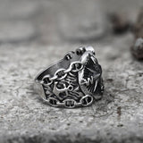 Vintage Northern Pirate Compass Stainless Steel Marine Ring