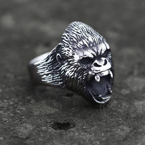 Wild Gorilla Stainless Steel Beast Ring