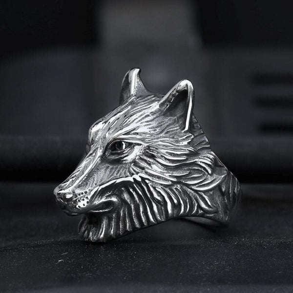 Wild Wolf 316L Stainless Steel Viking Ring
