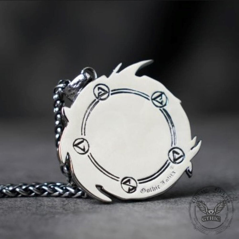 The Witcher Medallions Stainless Steel Wolf Pendant