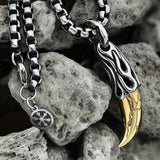 Wolf Tooth Stainless Steel Beast Pendant