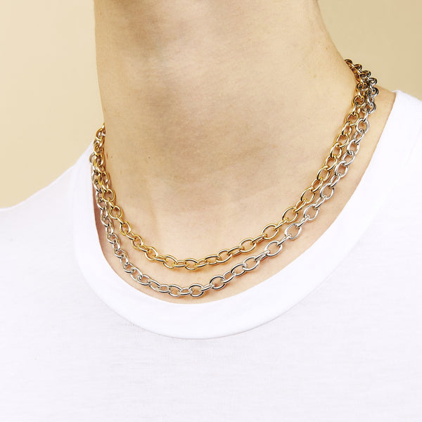Drawn Cable Chain Necklace