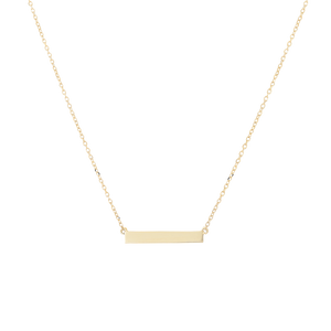 Horizontal Engravable Bar Necklace