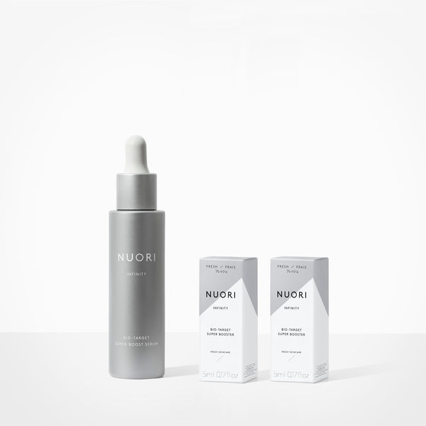 INFINITY BIO-TARGET SUPER BOOST SERUM Skincare NUORI YOUR TOP 2 CONCERNS: