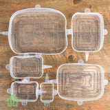 Air Tight Silicone Food Safety Lids (Set of 6) - parties4ever