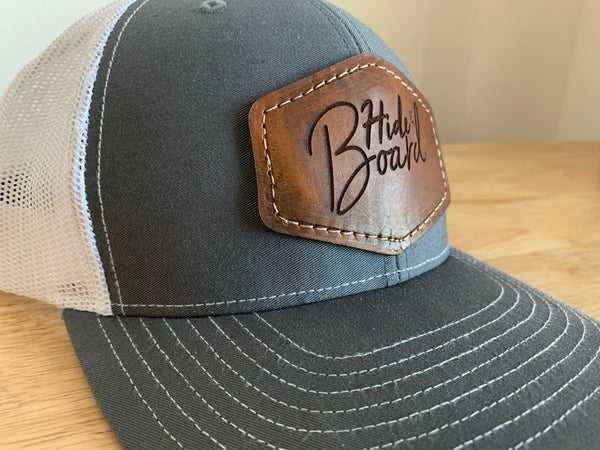 Custom Leather Patch Hat with Your Logo