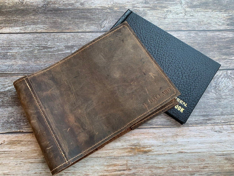 Leather Pilot Logbook Cover
