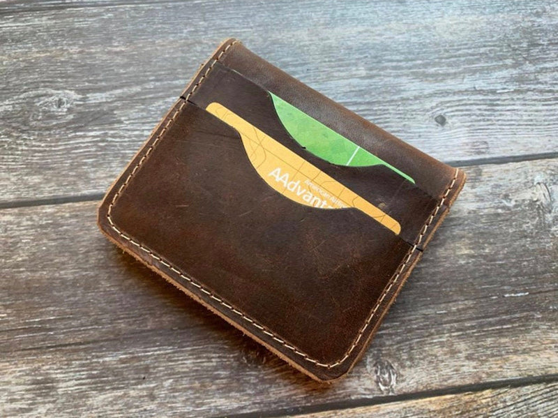 Leather wallet mens leather wallet personalized leather wallet gifts for dad fathersday gift leather wallt