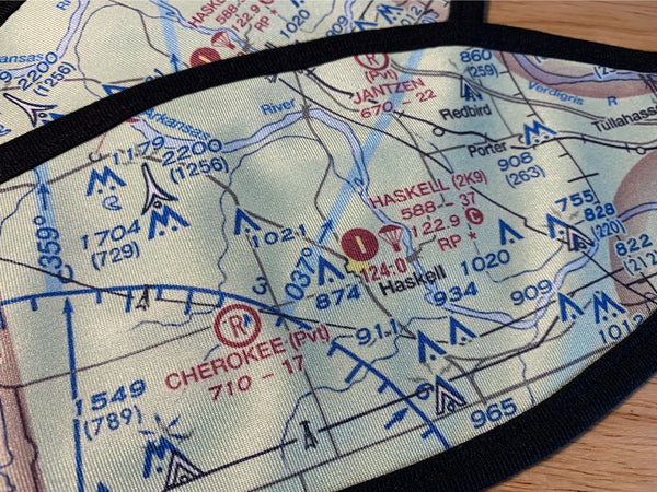 VFR Sectional Face Mask