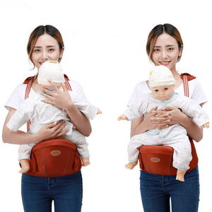 Baby Carrier Waist Hip Seat (Jujube Red)