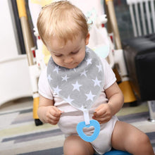 Load image into Gallery viewer, Bandana Bibs with Teething Toy (Star)