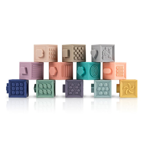 Baby Blocks Soft Silicone 3D Embossed