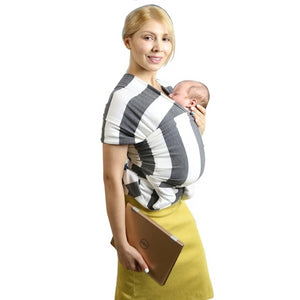 Baby Carrier Sling For Newborn (Gray Stripes)
