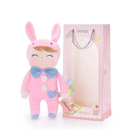 Plush Toy Angela Doll (Polka Pink)