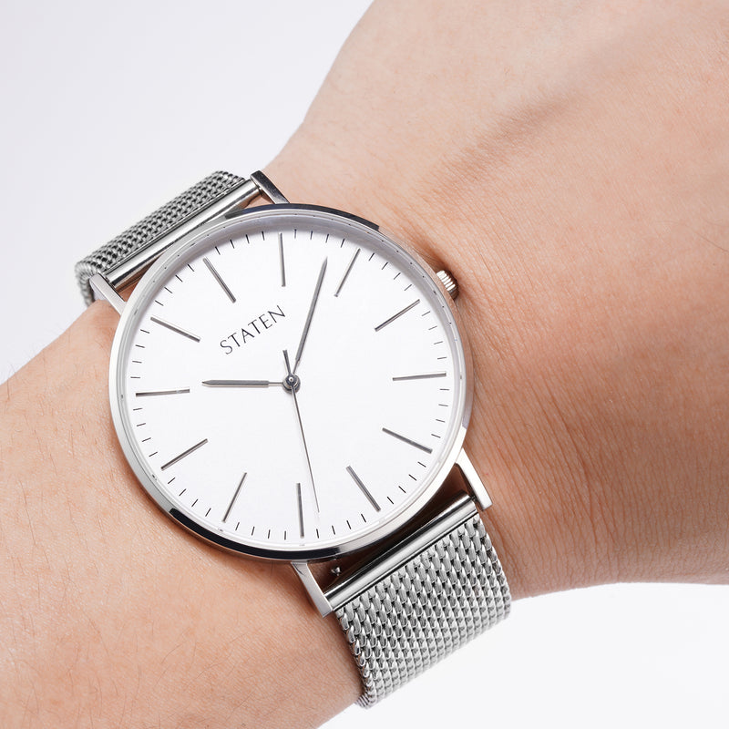 Montre Aries - Silver mesh
