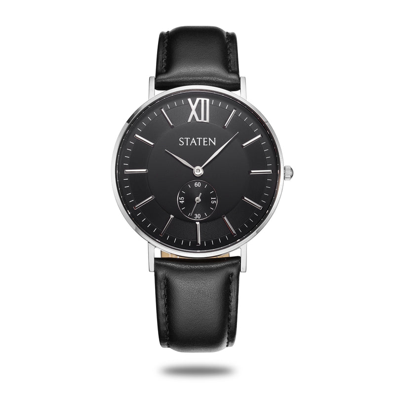 Montre Virgo - Black leather