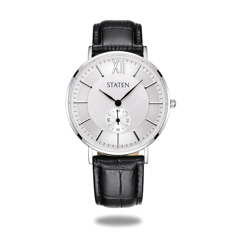 Montre Gemini - Black leather