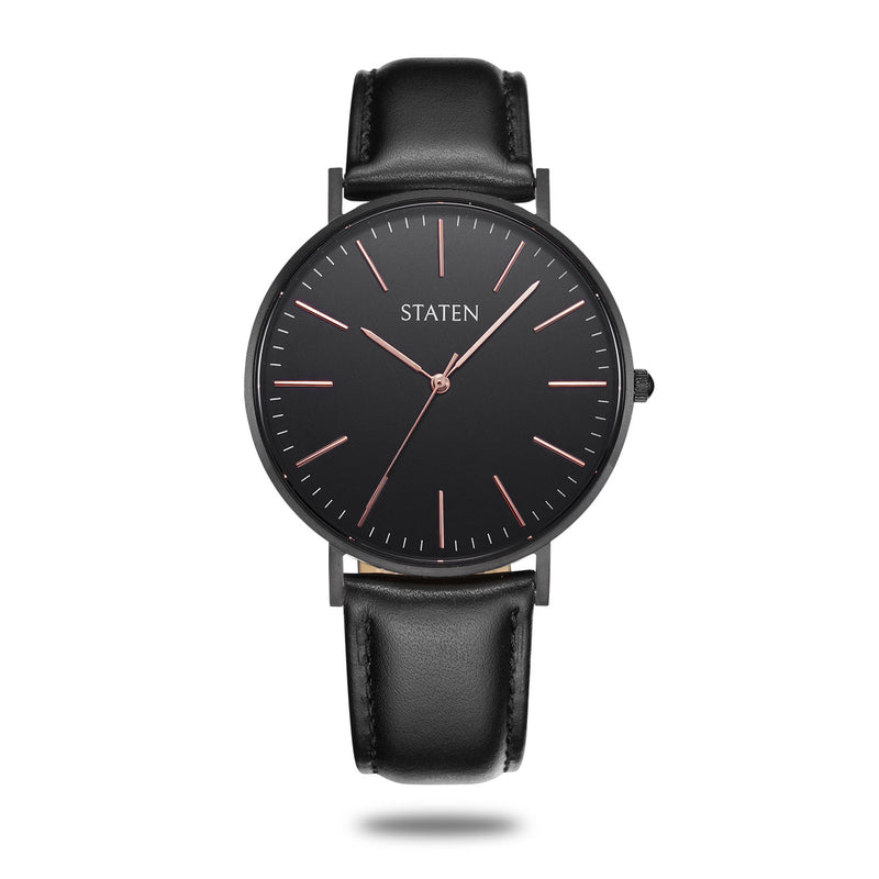 Montre Scorpius - Black leather