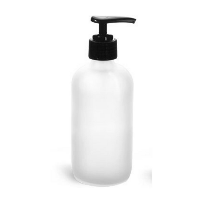 Frosted 8 oz Glass Soap W/Pump
