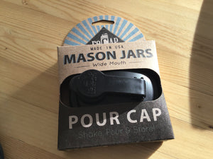 Mason jar wide mouth pour lid