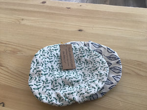 Fabric bowl covers Leafy 2 pk small