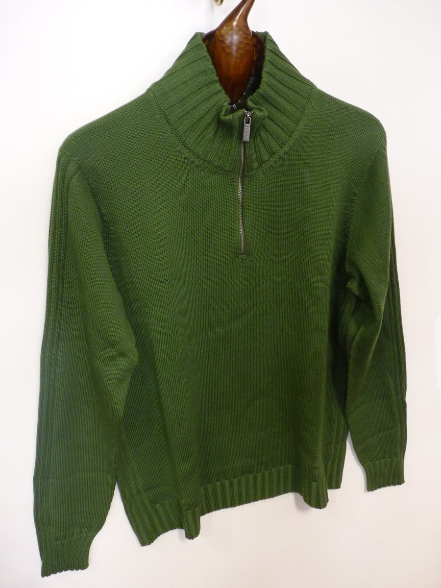 Standard Issue Merino Zip Collared Jumper - Alexanders on Tennyson