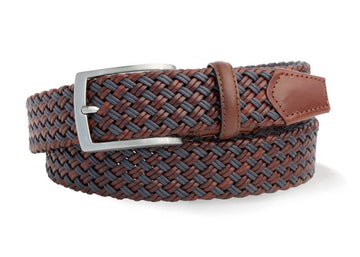 Robert Charles Blue/Tan Woven Belt