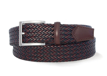 Robert Charles 1025 Woven Brown Belt - Alexanders on Tennyson