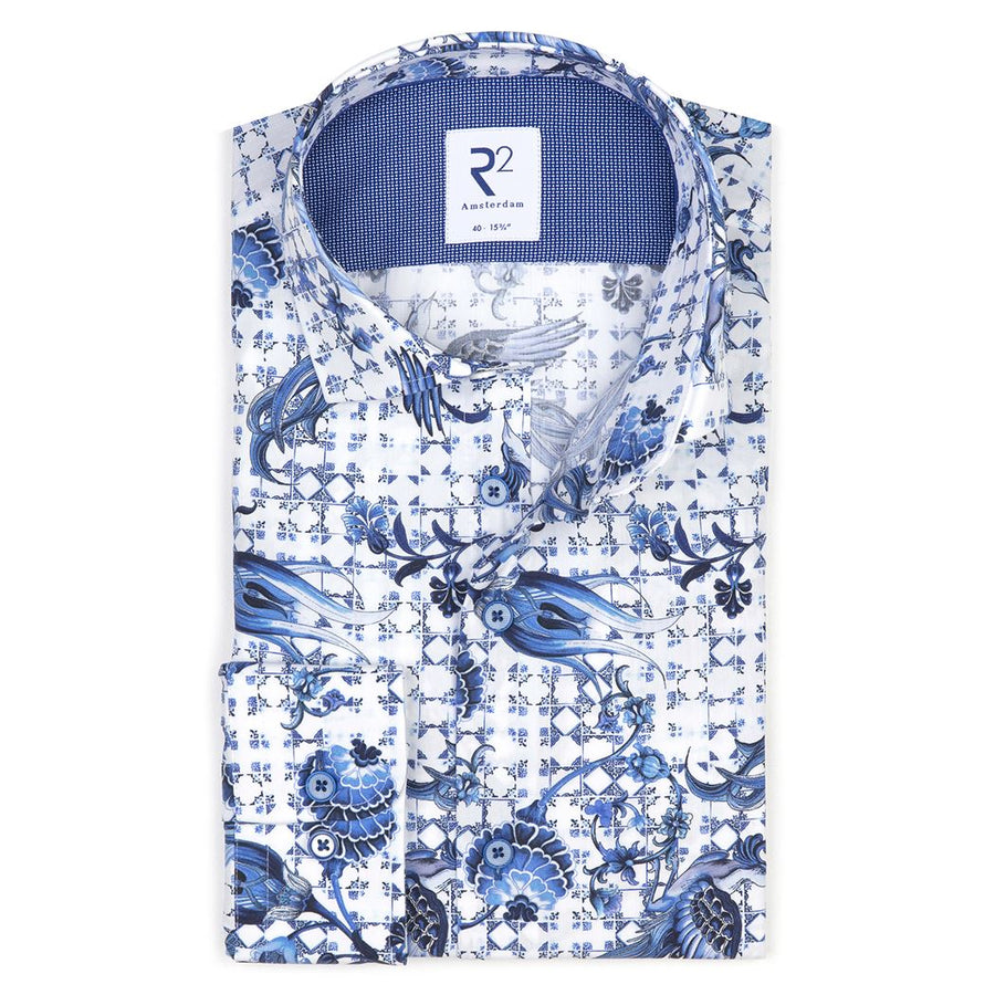 R2 L/S Shirt Floral Check - Alexanders on Tennyson
