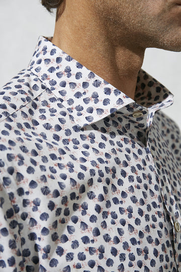 Florentino Shell Print Shirt, Slim Fit