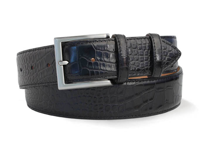 Robert Charles 1440 Black Leather Belt - Alexanders on Tennyson