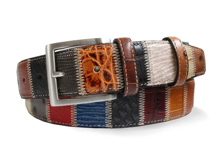 Robert Charles 1587 Patchwork Leather Belt - Alexanders on Tennyson