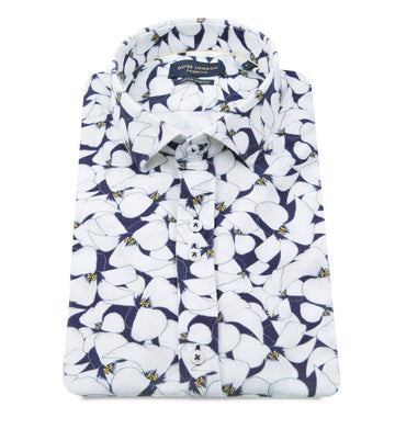 Guide London S/S Shirt Navy|White Blooms HS2420