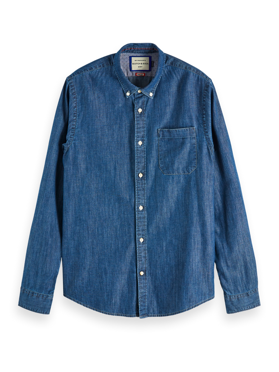 Scotch & Soda Chambray B/D LS Shirt - Alexanders on Tennyson