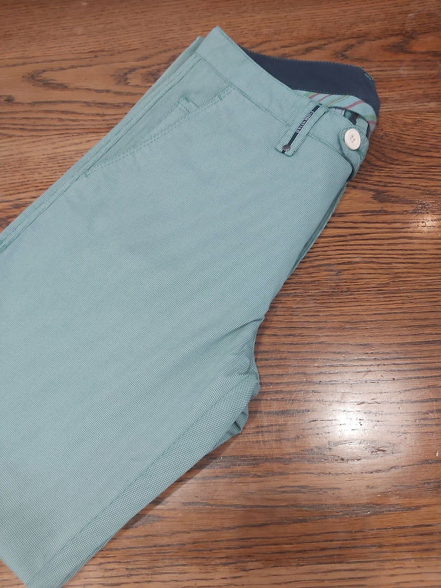 Florentino Green Textured Trouser