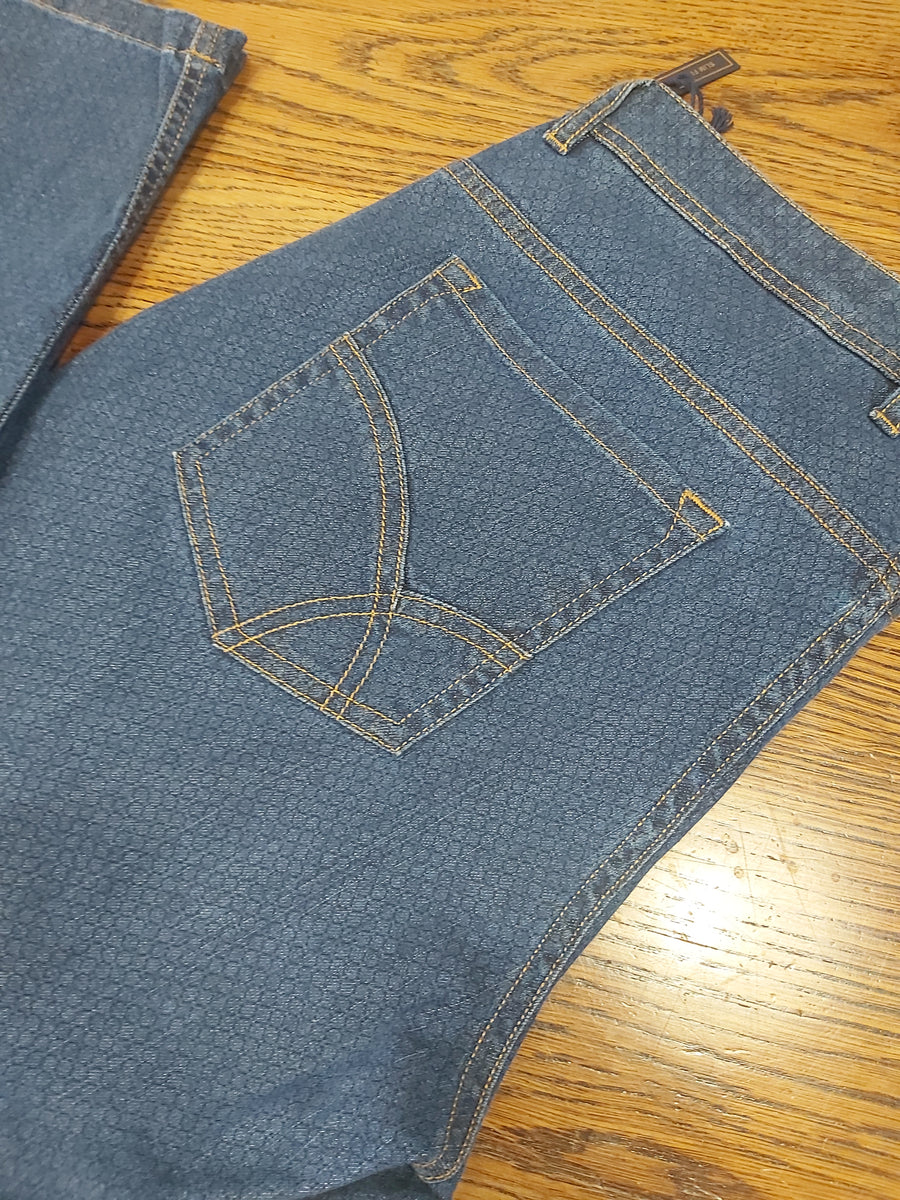 Florentino Patterned Weave Jean, Stone Washed, Slim