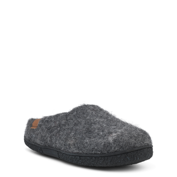 Green Comfort Grey Wool Felt House Shoes