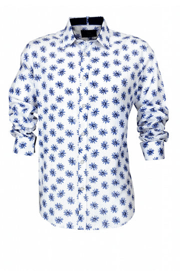 Cutler & Co Blake L/S Shirt Sea Blue 21006