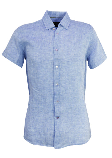 Cutler & Co S/S Shirt Linen Blue