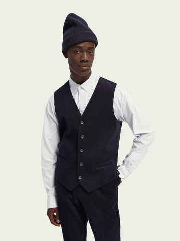 Scotch & Soda Classic Corduroy Gilet - Night