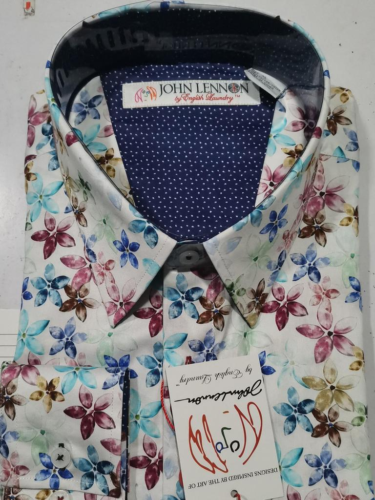 John Lennon Flowers Short Sleeve Shirt