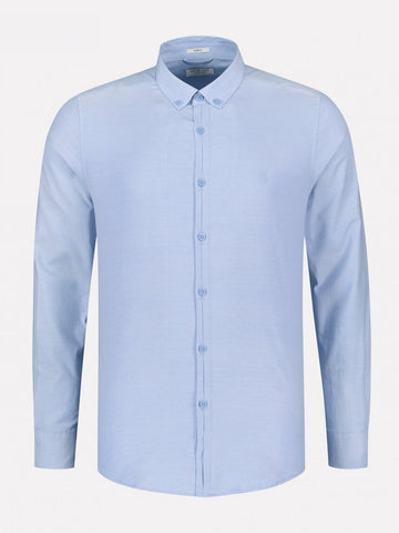 Dstrezzed Washed Oxford Blue L/S Shirt