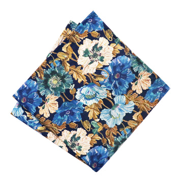 Parisian with Liberty Poppy Amelie Pocket Square - Alexanders on Tennyson
