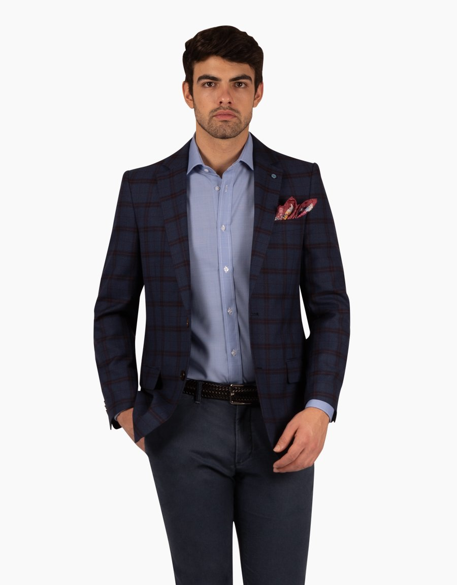 Rembrandt Navy Maroon Sports Coat