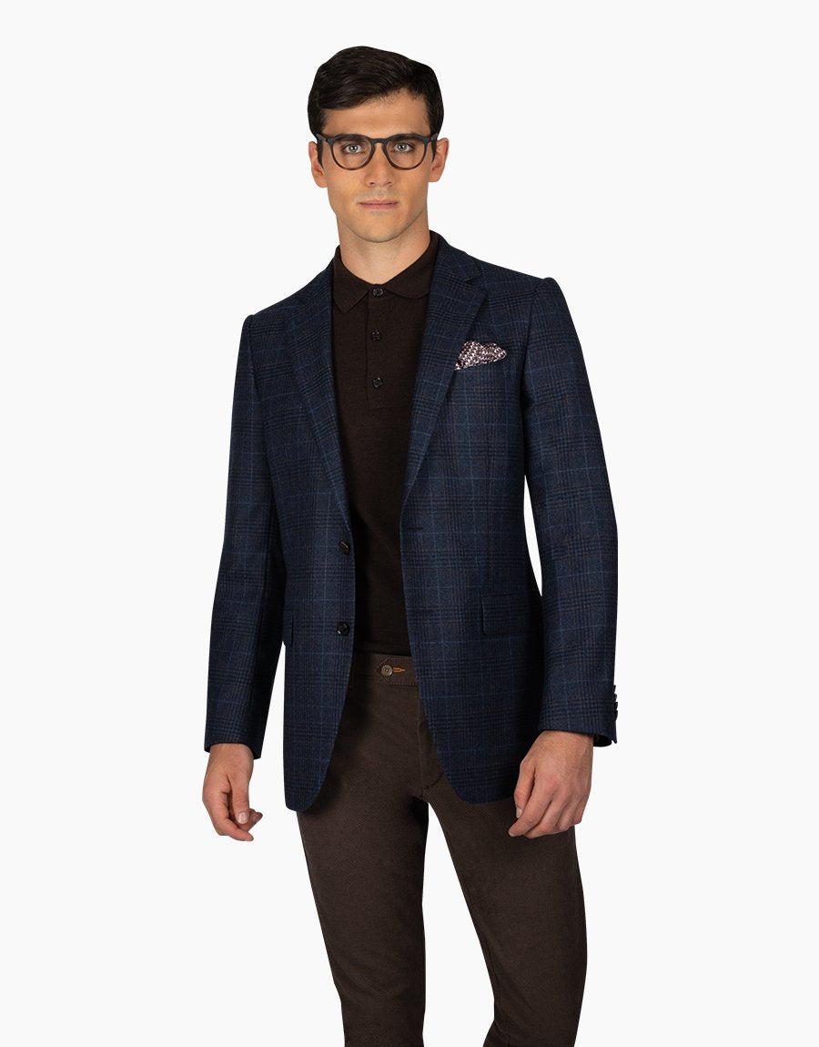 Rembrandt Navy Check Cooper Sports Coat