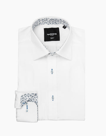 Rembrandt Barbican White Textured Dress Shirt