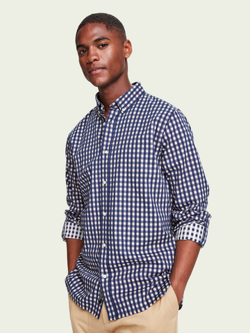 Scotch & Soda L/S Shirt Chic Tonal Navy Check